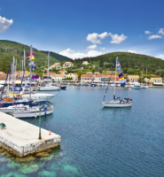 Fiskardo on Kefalonia Ionian island, Greece.